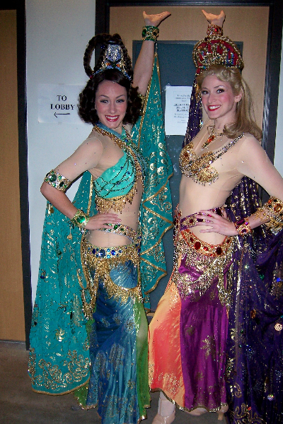Close-up of our Hollywood glam costumes