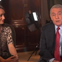 Dan Rather and Tracy Wholf