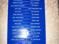 Cast list, outside the theater