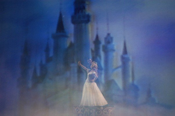Sleeping Beauty and her Prince during 'The Golden Mickeys' live show.